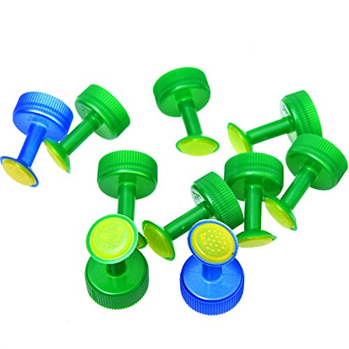 - Monrocco 10 Pack Plastic Bottle Cap Sprinkler Set Plastic Bottle Watering Nozzle Plant Sprinkler for Seedling Watering Irrigation