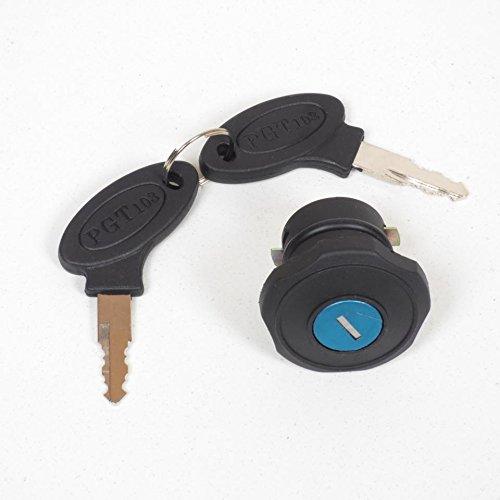 Bouchon de réservoir noir qui ferme à clé mobylette Peugeot 103 Ø 28mm Neuf Générique