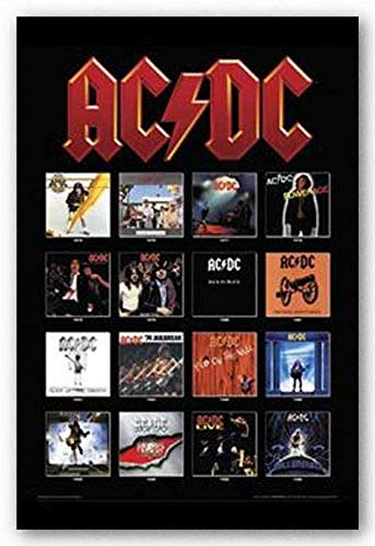 Picture Peddler Laminated AC/DC - Album Covers Rock Music Concert Poster 24x36 Inch