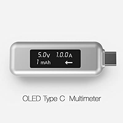 LINKIM USB Type-C Power Meter Tester Multimeter Current and Voltage Monitor with OLED Screen for Macbook Pro, Macbook and any USB-C Chargers, Cables and Power Banks