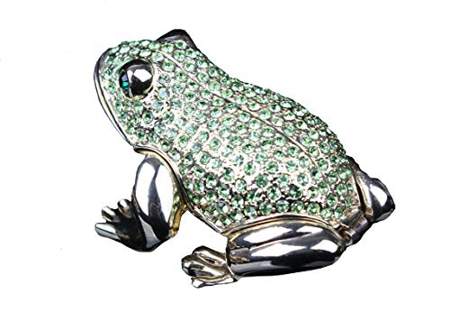 (znewlook Crystals Green Frog Hinged Jeweled Trinket Box from Shop (Green)