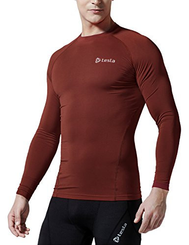Heatgear Boys Shirt - Tesla TM-R11-BRKZ_X-Small Men's Long Sleeve T-Shirt Baselayer Cool Dry Compression Top R11