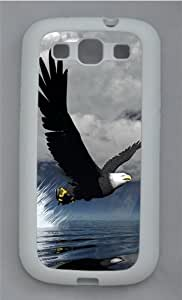 3D Eagle TPU Silicone Rubber Case Cover for Samsung Galaxy S3 SIII I9300 White