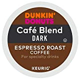 Dunkin' Donuts Cafe Blend Dark Espresso Roast Coffee single serve capsules for Keurig K-Cup pod brewers (24 Count) Review