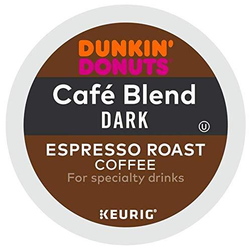 Dunkin' Donuts Cafe Blend Dark Espresso Roast Coffee single serve capsules for Keurig K-Cup pod brewers (96 - Blend Espresso Green