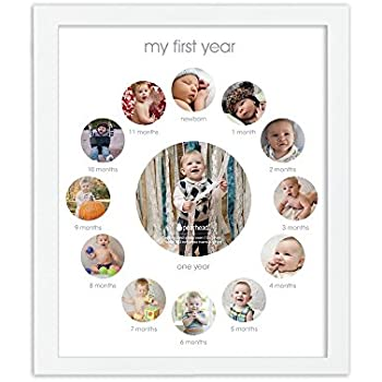 Amazon Com Pearhead First Year Frame White Baby
