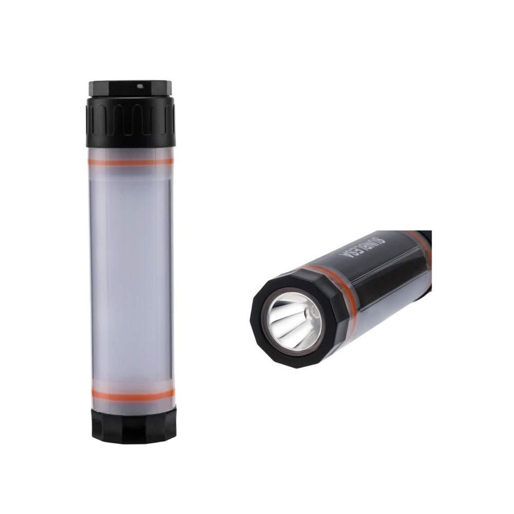 Batería 2600mAh LED Linternas portátil Banco de alimentación USB IP65impermeable blanco lámpara de luz nocturna LED multicolor con SOS de emergencia Modo 6modos de iluminación para Camping pesca SUNBLESA