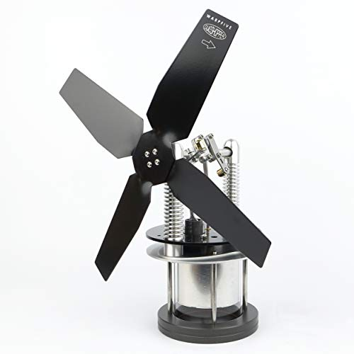 Warpfive Heat Powered Stove Fan for Wood Multi Fuel Coal Lower Temperature Surface Soapstone Glasshopper Stirling Engine