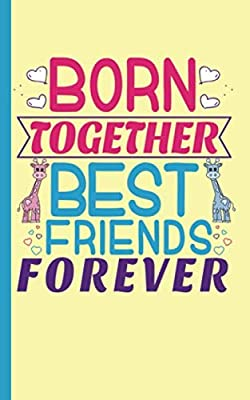 "Twin Boy and Girl Best Friends Journal - Notebook: Half Lined Half Blank Page, Twin to Twin Baby Sibling Playtime - Draw and Write Story Note Book, Small 5x8"" (Writing Drawing Kid Gifts Vol 2)"