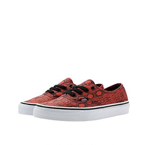 Sneakers Autentiche Vans Snake, True Red / True White, Noi Donne 5.5 B Medium / Us Mens 4 D Medium