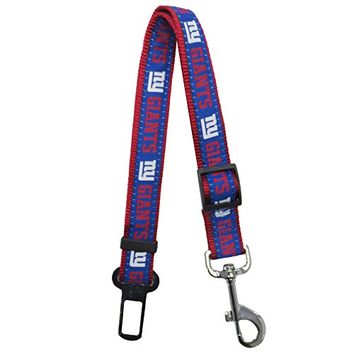 NFL New York Giants Pet Seatbelt, Retractable Dog Seat Belt Restrain