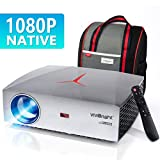VIVIBRIGHT f40 Native 1080P Projector, 4200White LED Light 300' Display Full HD Home Theater Projector, HiFi Class Speaker with SPDIF, Compatible with TV Stick, PS4, Xbox, HDMI, SPDIF, USB, AV