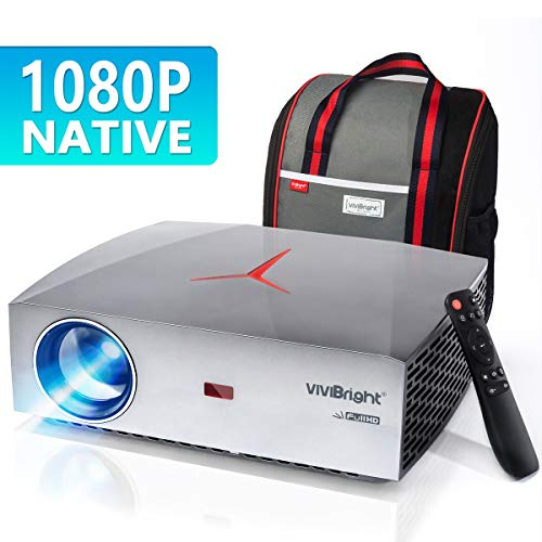 Projector, VIVIBRIGHT F40 Native 1080P Full HD Projector, 4200Lux 300