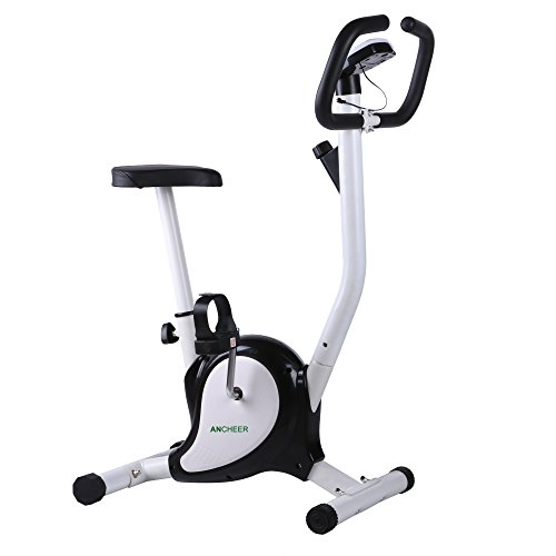 Ancheer Upright Exercise Bike, Cardio Bike Cycle Machine with Resistance (Black) Ancheer