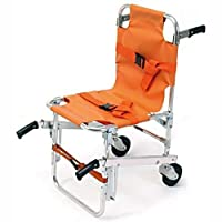 LINE2design EMS Stair Chair - Ambulance Firefighter Evacuation Medical Lift Stair Chair with Quick Release Buckles