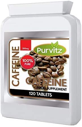 Koffein Tabletten 120 X 200mg Super Stark Energie Booster Hilft Fokus vor dem Training Tabletten