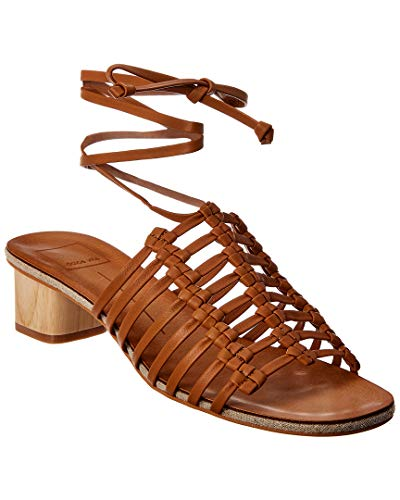 Dolce Vita Women's Kai Slide Sandal Caramel Leather 9.5 M US ()