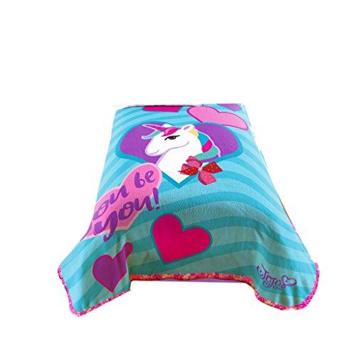 Price comparison product image Nickelodeon JoJo Siwa Bowlicious Plush Coral Fleece Blanket (Official JoJo Siwa Product)
