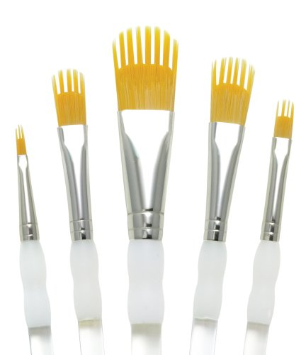 aqualon-royal-and-langnickel-wisp-short-handle-paint-brush-set-filbert-5-piece