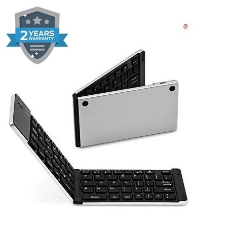 Wonderford supreno F66 Foldable Metal Wireless Keyboard Bluetooth 3.0 for iOS/Android/Windows  Assorted Colour  Keyboards