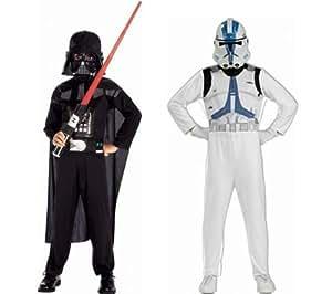 Star Wars - Pack Disfraces Darth Vader y Clone Trooper, 5-7 años (Rubies 37013)