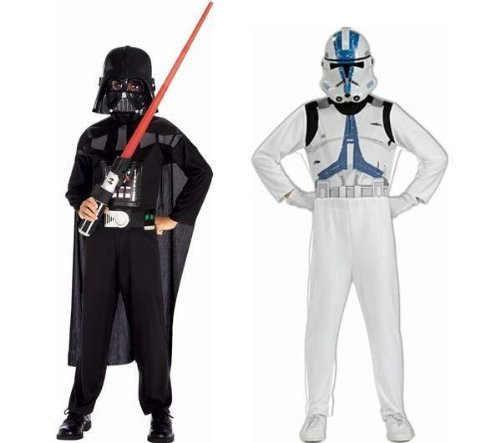 Star Wars – Pack Disfraces Darth Vader y Clone Trooper, 5-7 años (Rubies 37013)