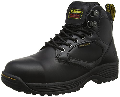 Work Boots 7 Leather Eyelet Dr Martens Black Safety Mens Black Drax twYBT8g