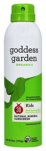 Goddess Garden Organics Kids SPF 30 Natural Sunscreen, Continuous Spray, 6 (Goddess Garden Natural Sunscreen)