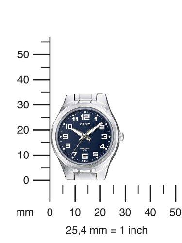 Casio-Casio-Collection-Reloj-analgico-de-mujer-de-cuarzo-con-correa-de-acero-inoxidable-plateada-sumergible-a-50-metros