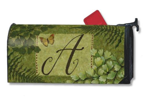 Natures Monogram - Nature's Script Monogram A Magnetic Mailbox Cover