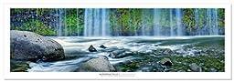 Award Winning Landscape Panoramic Art Print Poster: Mossbrae Falls
