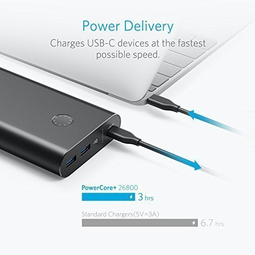 Anker PowerCore+ 26800 PD with 30W Power Delivery Charger, Portable Charger Bundle for iPhone X / 8, Nexus 5X 6P, LG G5 & USB Type-C Laptops (e.g. 2016 MacBook) Power Delivery Support by Anker