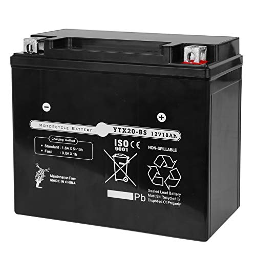 Weize YTX20L-BS High Performance Power Sports- Maintenance Free - Sealed AGM Battery For Motorcycle ATV UTV snowmobile