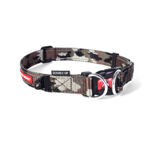 Ezydog Double Up Collar, Large, Green Camouflage