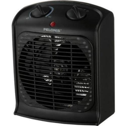 Pelonis Fan-forced Black Portable Space Heater with Thermostat-new, Three Heat Settings (Low, Medium and High),safety Auto Shut-off Ceramic Heaters