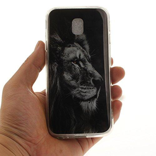 Fit Silicone J3 Protection 2017 Résistant lion Slim Hozor Arrière TPU Motif Téléphone Bord De Cas Samsung Souple De En Couverture Scratch Peint Transparent Antichoc J330 Cas Galaxy qPwPgZxE