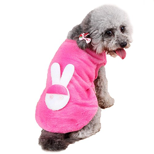[DEESEE(TM) Pet Hot Dogs Coat Jumpsuit Pet Puppy Soft Warm Pajamas Clothes (XL, Pink)] (Pugs Costumes)