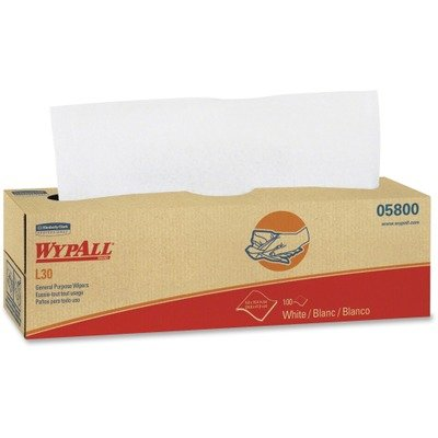 KIMBERLY-CLARK PROFESSIONAL* WYPALL L30 Wipers, 9 4/5 x 16 2/5, 100/Box, 8/Carton