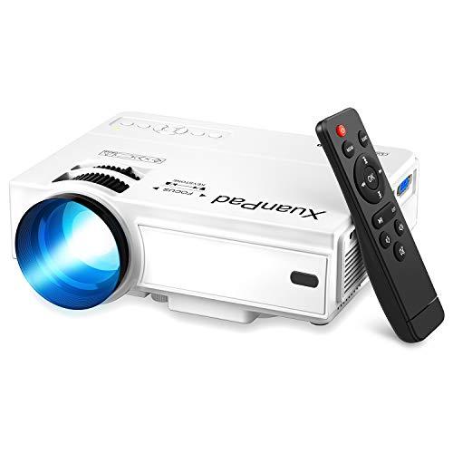 Projector, XuanPad Draagbare Mini Beamer, 55000 Uur Multimedia Home Cinema Beamer, Compatibel met TV Stick, Full HD…