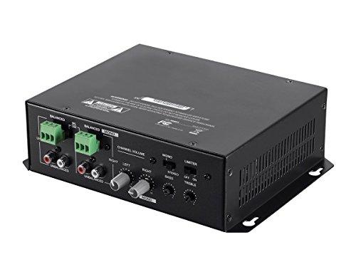 Monoprice Commercial Audio 120W 2ch Mixer Amp