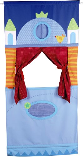 HABA-Doorway-Puppet-Theater-Adjustable-Rod-fits-in-Most-Doorways