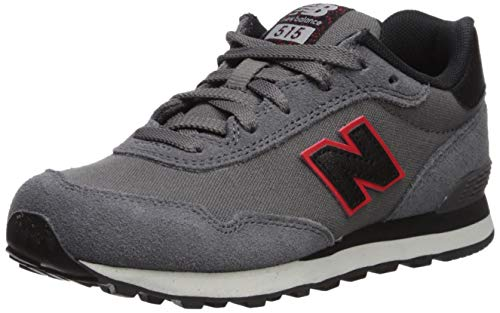 New Balance Boys' 515v1 Sneaker Running Shoe, CASTLEROCK/VELOCITY RED, 10.5 M US Little Kid
