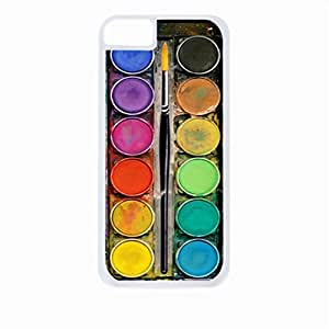 Art/Paint Box- Case for the Apple iphone 5c Universal-Hard White Plastic Outer Shell with Inner Soft Black Rubber Lining