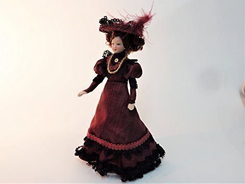 Melody Jane Dollhouse Victorian Lady in Plum Outfit for sale  Delivered anywhere in USA