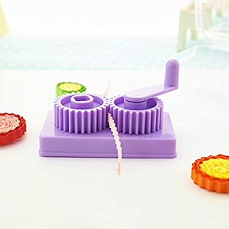Quilling Tool with Little Storage Case Paper Slip Wave Shape Making Tool Hand-Operated Quilling Crimper Purple