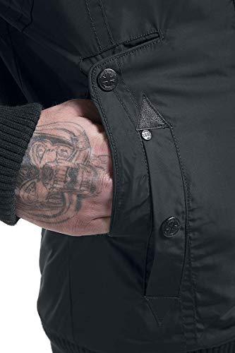 Lonsdale Negro Jarreth Abrigo Abrigo Hombre Hombre Negro Lonsdale Jarreth TTrqFwO
