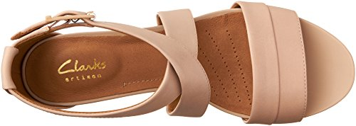Wedges Pink Women's Clarks Leather Acina Dusty Newport qCgxt4Ow