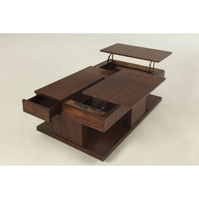Amazoncom Dail Coffee Table With Double LiftTop Kitchen Dining - Double lift top cocktail table