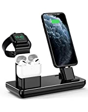 $25 » YoFeW Charging Station for Apple Watch iPhone & Airpods, Charger Stand for iWatch Series 5/4/3/2/1, AirPods and iPhone 11/11 Pro/11 Pro Max/Xs/X Max/XR/X/8/8Plus/7/7 Plus /6S /6S Plus, Upgraded