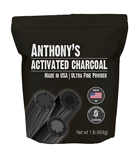 Anthony's Activated Charcoal, Made in USA (1lb), Ultra Fine, Gluten Free & Food Grade